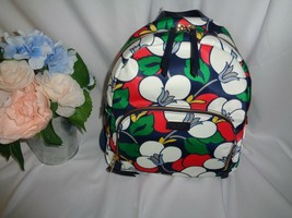 Kate Spade Dawn Breezy Floral Medium Backpack Nylon Blase Blue Multi WKRU5925 - $94.55
