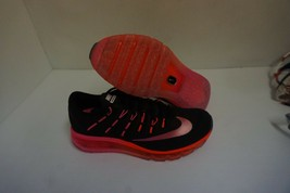 Woman's nike air max 2016 running shoes black red bright size 6 us - $148.45