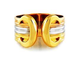 Cartier Ladies Tri-color 18k Gold Double C Ring 976001 - $1,750.00