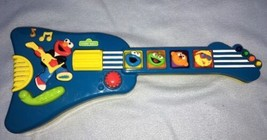 Tyco - 1998 Sesame Street Elmo's Rock & Roll Guitar Works Great! Lights ... - $14.84