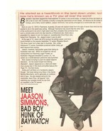 Jaason Simmons teen magazine pinup clipping muscles Baywatch Teen Dream - $3.50