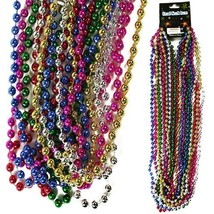 Mardi Gras Beads Necklaces Metallic Color Party Favors (BULK LOT OF 600X) - $148.45