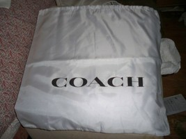New COACH Drawstring Dust Bag Cover Large 18 x 18 Black  Logo - $11.88