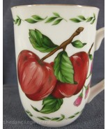 Otagiri Apples Blossoms Coffee Cup Japan 8oz Papel Gold Trim - $17.95