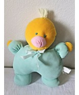 Cuddle Me Toys Duck Plush Stuffed Animal Yellow Green Thermal Waffle - $24.73