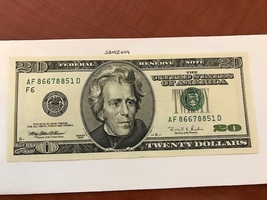USA United States $20.00 banknote uncirculated Year 1996  #3 - $37.00