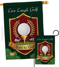 Live, Laugh, Golf - Impressions Decorative Flags Set S109042-BO - $57.97