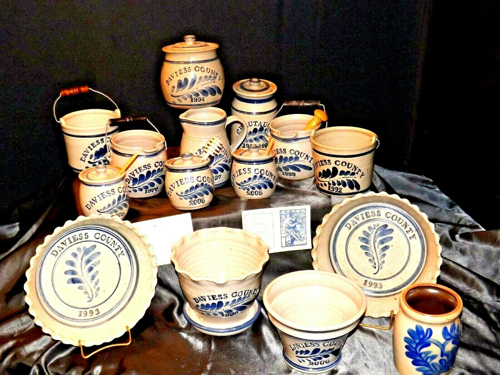 Daviess County WESTERWALD Pottery 14 piece collection AB 319