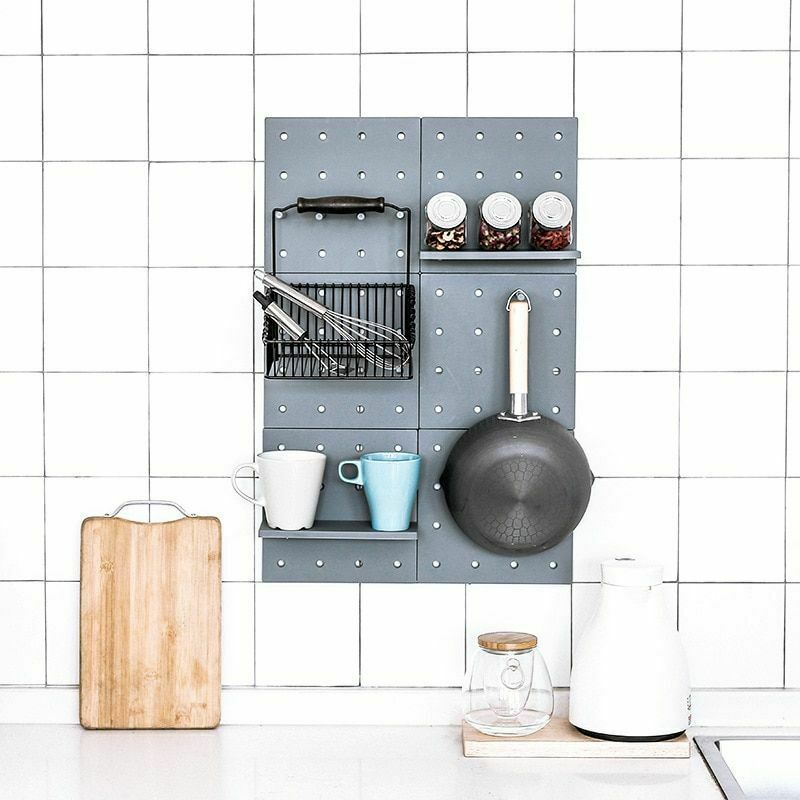 Hole Plate Wall Storage Rack Living Room Kitchen Suction Holders Home Organizers image 4