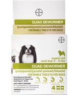 Quad Dewormer for Puppies and Small Dogs (2-25 lbs) 4 Chewable Tablets - $19.95