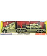 Mighty Wheels US Army Tank Tractor and Semi Trailer Die-cast Metal & Pla... - $59.39