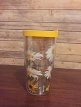 Tervis White Daisies Tumbler With Lid 16 oz. Tumbler Yellow - $12.99