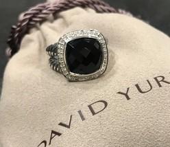 David Yurman ALBION BLACK ONYX & DIAMONDS 11 MM RING SIZE 7  - $374.99