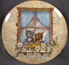 Unexpected Visitors Collector Plate Purrfect Point Of View Joseph Giorda... - $17.95