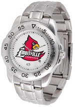 Louisville Cardinals Licensed Men Sport Steel Band Watch - $68.81