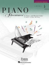 Level 5 - Lesson Book: Piano Adventures (The Basic Piano Method) [Paperb... - $5.99