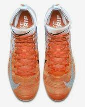 Nike Vapor Untouchable 3 Elite Football Cleats Orange White Size 11.5 AH7408-108 image 4