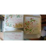Avon Strawberry Plate, Strawberry Sugar Shaker and 2 Strawberry Napkin R... - $42.08