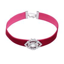Collares Fashion Women Retro Geometric Crystal Charm Gothic Choker Necklace - $6.92