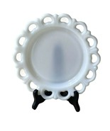 """Anchor Hocking Lace Edge Milk Glass 8 1/4"""" Inch Salad Plate Open Lace - $14.99"""