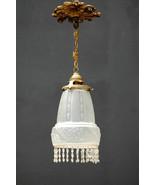 Fine Art Nouveau Glass Lamp french 1900 parisian antique deco crystal br... - $291.66