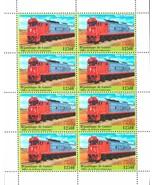 Trains Transportation Block of 8 stamps Mint NH - $227,19 MXN