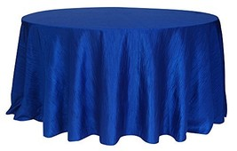 Your Chair Covers - 120 Inch Round Crinkle Taffeta Tablecloth Royal Blue... - $28.48