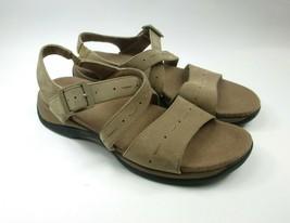 Clarks Springers Sun Lauren Tan Taupe Brown Leather Sandals Size 7.5 M - $27.69