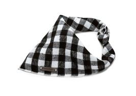Lily Anne Boutique Black & White Buffalo Plaid Dog Bandana | Premium 100% Cotton - $14.99