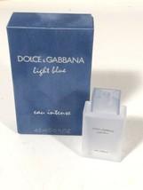 Dolce & Gabbana Light Blue Eau Intense Women Miniature Travel Parfum Made France - $15.83