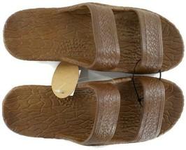 Pali Hawaii Jesus Sandals Jandals Light Brown SZ 9 Unisex Men Women Slip... - $13.99
