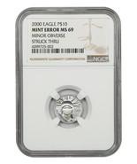 Mint Error: 2000 Platinum Eagle $10 NGC MS69 (Minor Obverse Struck Thru) - $373.45