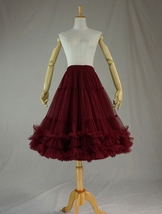 Women's Tulle Ballerina Skirt Purple Layered Tulle Skirt Puffy Tutu image 9
