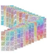 Hicarer 288 Pieces Nail Vinyl Stencils Nail Art Decoration Stickers Set ... - $20.28