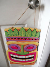 "WALL BOARD HANGING PLAQUE THICK CARDBOARD TIKI Totem POLE 16""  X 12"" FUN - $5.52"
