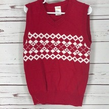 Gymboree Red & White Pullover 4t Sweater Vest 1H - $13.98