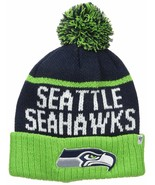 Seattle Seahawks NFL Hat Stocking New Cuff Knit Blue Green Embroidered L... - $24.24
