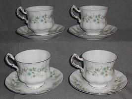 Set (4) Paragon Bone China Debutante Cups/Saucers - $39.59
