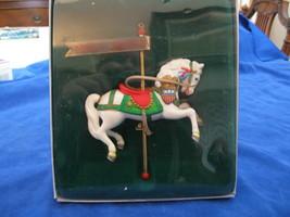 Enesco Carousel Horse Series Christmas Ornament 1983 w/box White Pony - $9.00