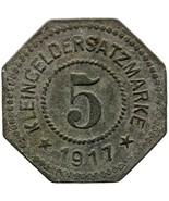 1917 5 Pfennig German Coin Rosenheim Stadt, Bayern Notgeld (MO1473-) - $16.00