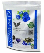 Weight loss Ceylon herbal Butterfly Pea Flower  30 Tea Bags Free shipping  - $18.04