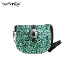 Montana West TR11-L8287 Trinity Ranch Tooled Design Western Handbag Purse - $67.03