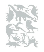 LiteMark Grey Assorted Dinosaur Decals - Pack of 42 - $19.95