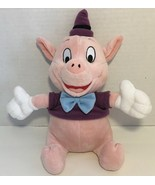 Disney Three Little Pigs Fifer the pig purple hat shirt blue bow tie - $12.86