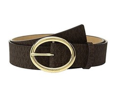 Michael Kors Womens MK Signature Logo Belt Chocolate Size Small - $58 - NWT - $39.00