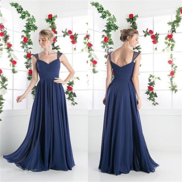 Chiffon cheap simple cocktail evening long prom dresses cheap bridesmaid dresses   pd0156