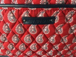 Vera Bradley Shoulder Bag & Makeup Case Red Paisley VGC Retire 2005 Amer... - £24.72 GBP