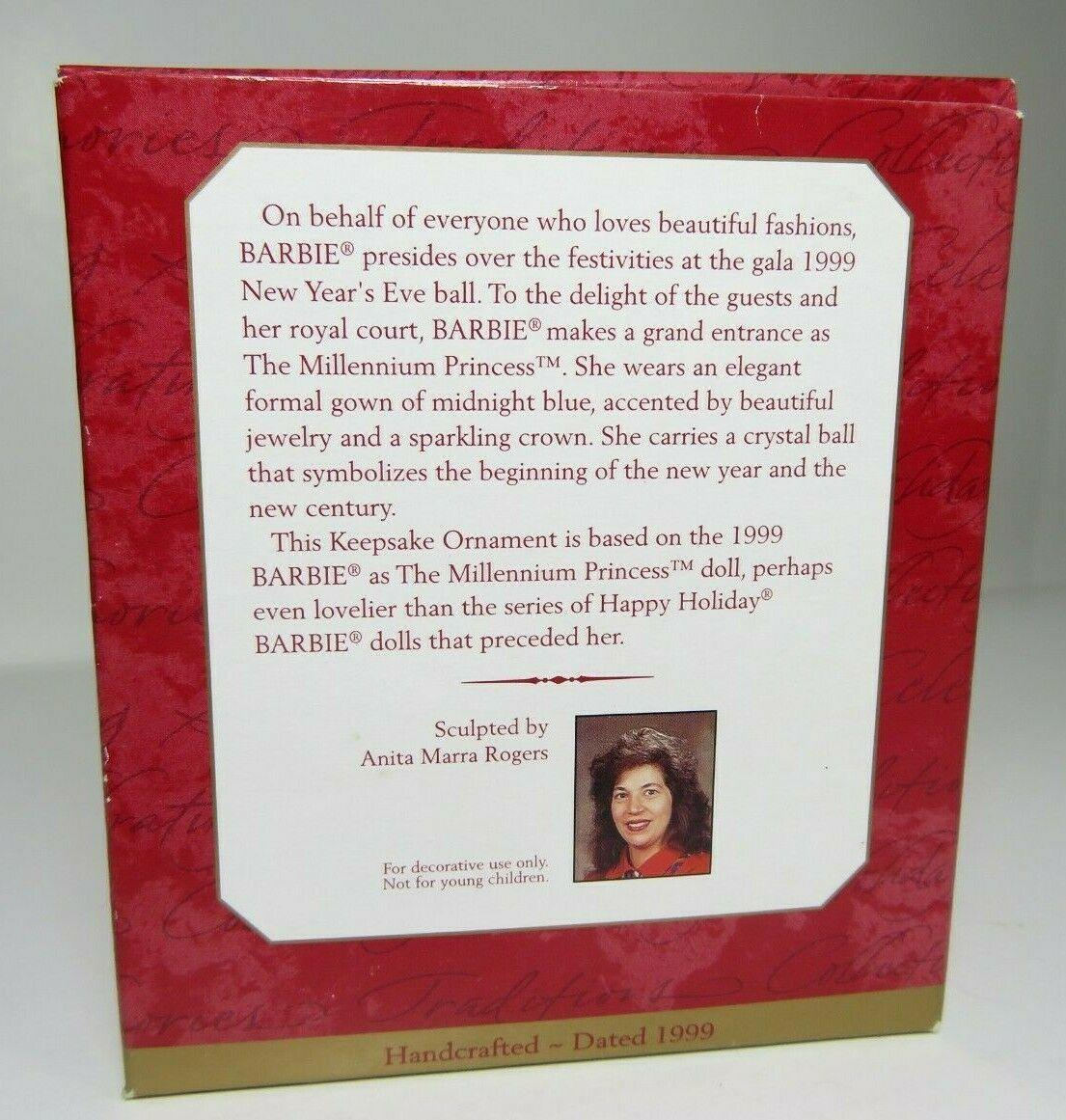 1999 Hallmark Barbie as The Millennium Princess Keepsake Ornament Collectors