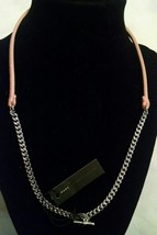 NWT $98 MARC By MARC JACOBS Peach Silver Necklace NEW - $42.49