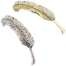 Set of 2 [Feather] Retro Romantic Hair Pins Metal Side Hair Clips,Random Color image 2